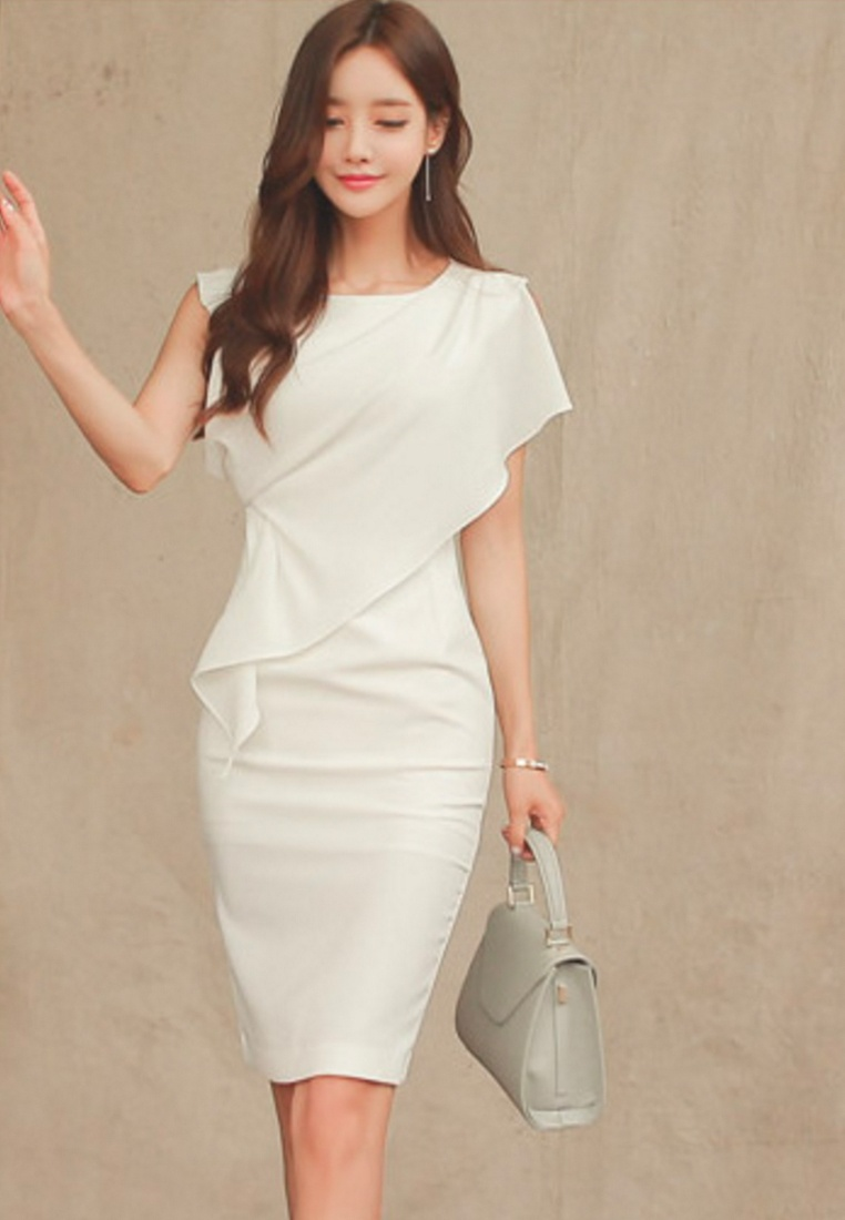 Sunnydaysweety One S S white 2017 Elegant White Dress UA040329 Piece Ipv7q8