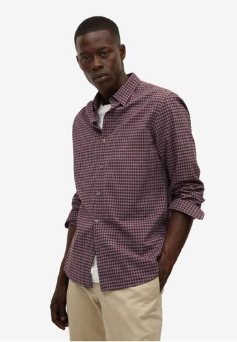 MANGO Man red Slim Fit Gingham Check Shirt E09D8AABBCA96FGS_1