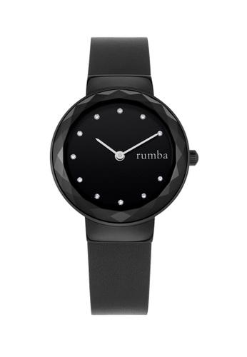 RumbaTime black Rumbatime Santa Monica Gem Leather Watch Black 63B2DACC8360A7GS_1