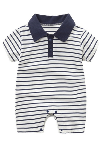 RAISING LITTLE multi Jicco Romper - Navy Blue 9DAF7KA653AE85GS_1