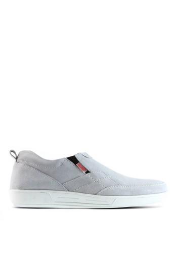 Sogno grey Sepatu Slip On Pria - GF.7011 0AD95SH1DC68B8GS_1