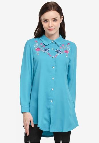 BYN green Embroidery Shirt F0006AA6822B99GS_1