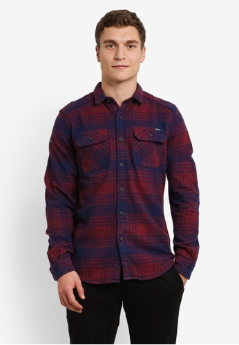 Superdry red Milled Flannel Shirt SU137AA0RY5ZMY_1