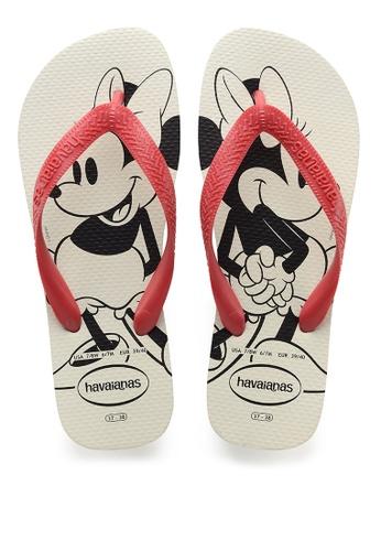Havaianas white Top Disney Flip Flops 710B6SH451B774GS_1