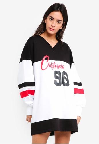 MISSGUIDED black Oversized California Sweater Dress D4F0CAAE15B6EDGS_1