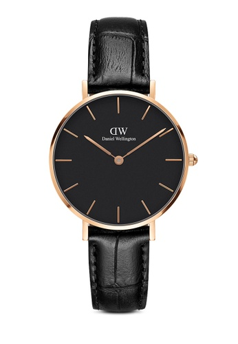 Daniel Wellington gold Petite Reading Black 32mm Rose Gold Watch 451EDAC6460072GS_1