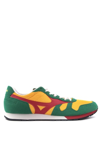 Mizuno red and yellow and green ML 87 Sneakers MI197SH68UCPPH_1