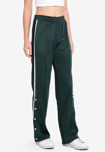 Supre green Side Stripe Wide Leg Track Pants 28FDDAA7577F70GS_1