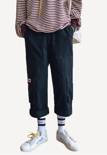 hk-ehunter black Men's Straight Casual Pants AAFF7AA9F5D3DDGS_1