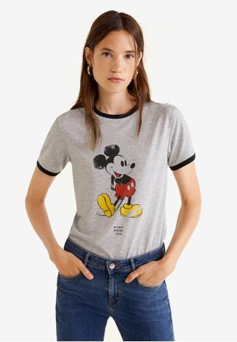 Mango grey Mickey Mouse T-Shirt 17BBBAA47DB6FAGS_1
