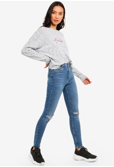 72669ed380e TOPSHOP Mid Denim Ripped Jamie Jeans S  83.90. Sizes 26R 28R