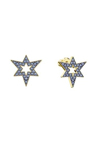 Swarovski gold Mastery Drop Pierced Earrings F060EAC24C121EGS_1