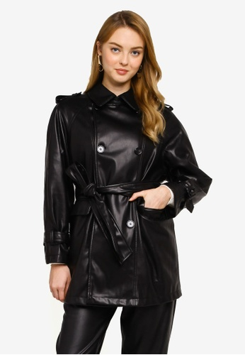 Mango black Faux Leather Jacket 6CC3DAA4DD3E78GS_1