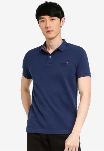 Superdry blue Classic Pique Polo Shirt 47F92AA4C75A7BGS_1