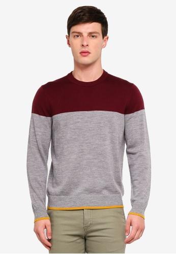 Brooks Brothers 灰色 Red Fleece Fun Color Block Sweatshirt 473A6AA398B60BGS_1