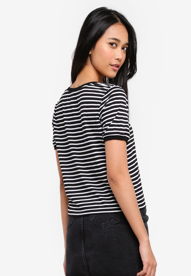 Factorie Lover Stripe Heart Tee Ringer True w0qxpa0nfv