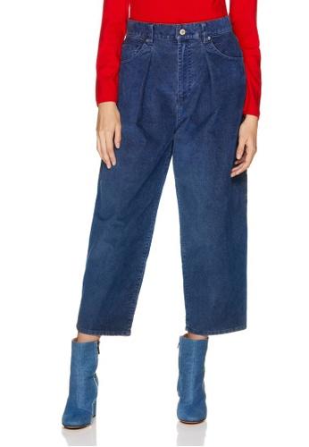 United Colors of Benetton 藍色 刷色造型丹寧褲 DAA62AA7559A21GS_1