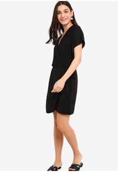 271c6be144757 30% OFF ZALORA Overlap Dress RM 95.00 NOW RM 66.90 Sizes XS S M L