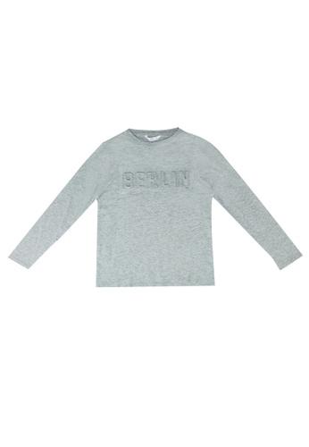 MANGO KIDS grey Embossed Message T-Shirt D53C8KA0E91B66GS_1