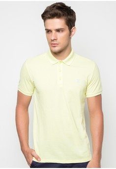 Short Sleeve Men's Polo Shirt with Contrast