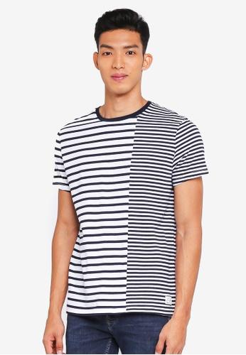 Jack Wills white and navy Seymore Stripe T-Shirt 5EC74AA553B48DGS_1