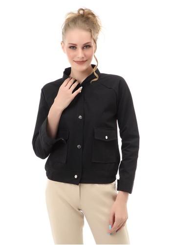 Hamlin black Jacket Outer Wanita 2 Pocket Material Canvas ORIGINAL - Black D62EEAA0B568F4GS_1