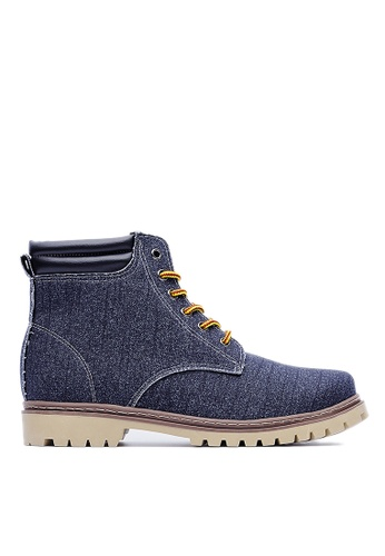 Life8 grey Simple 6 Holes Ankle Boots-09397-Grey LI286SH27ARKMY_1