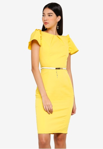 Paper Dolls yellow Lemon Fluted Dress AFBD5AAD9ACDD6GS_1