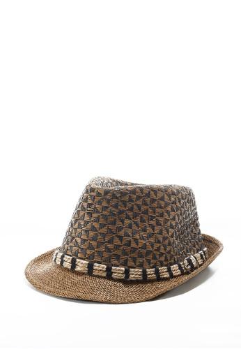 Life8 Casual Ethnic Pattern Woven Straw Hat Parama-05256-Brown LI286AC0RLZ5MY_1
