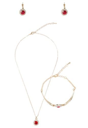 仿鑽寶石圓牌吊墜首飾組合, 韓系時尚, esprit分店梳妝