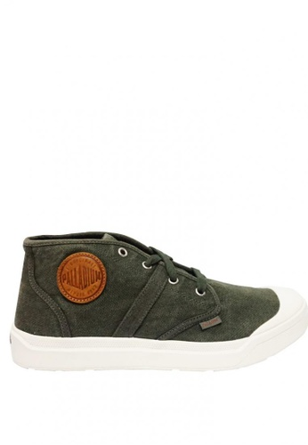 Palladium Boots green Pallarue Mid LC Men's Sneakers E699BSH1839E7AGS_1