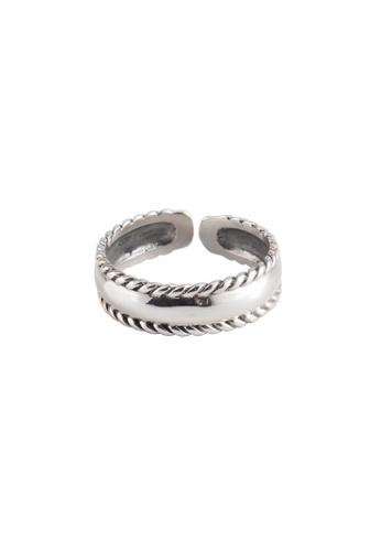 A-Excellence silver Premium S925 Sliver Geometric Ring E5F20AC3FCC7B3GS_1