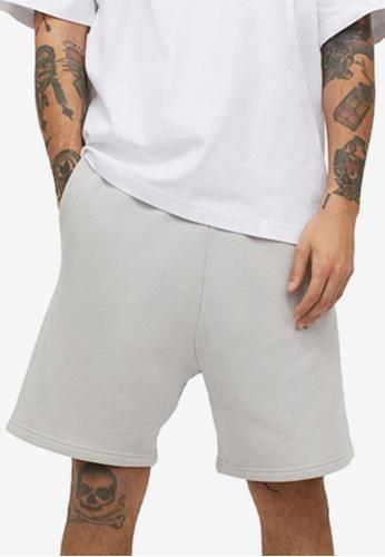 H&M grey Motif Sweat Shorts 4A98FAA15E01A3GS_1