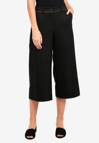 Sisley black Straight Wide-leg Trousers B95F6AA121AA4AGS_1
