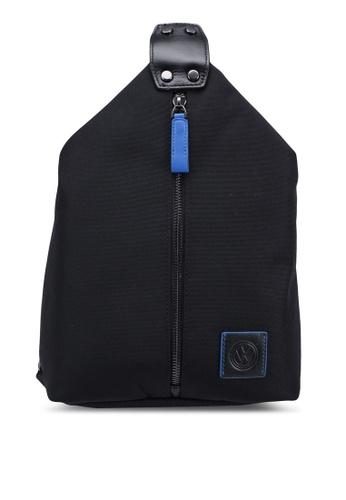 Volkswagen black Casual Chest Bag A2A02AC2D2911DGS_1
