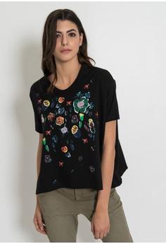 7805a7b3772ec9 SILVIAN HEACH black T-Shirt With Grafitti Loose 88C55AAB4D2AB8GS 1