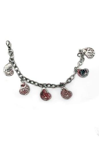 Paulini silver Charm Bracelet Mussel (R) PA011AC03VXSMY_1