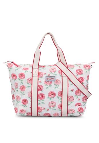 Cath Kidston white Dahlia Foldaway Overnight Bag 7221EAC239D672GS_1