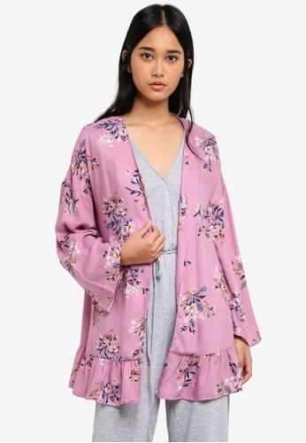 Cotton On purple Flora Frill Kimono 8ABAEAA5FDCBE0GS_1
