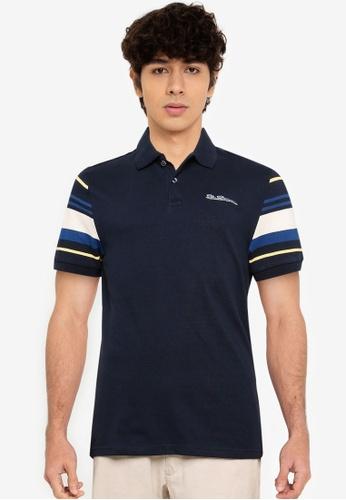 Ben Sherman navy Sleeves Stripe Polo Shirt 0E00EAA64650E4GS_1