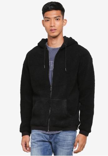 Cotton On black Premium Zip Hoodie FAD0DAAA25849BGS_1