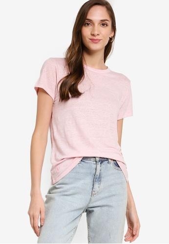 polo ralph lauren pink Ralph Lauren Short Sleeve Linen T-Shirt FF48EAAE63D919GS_1
