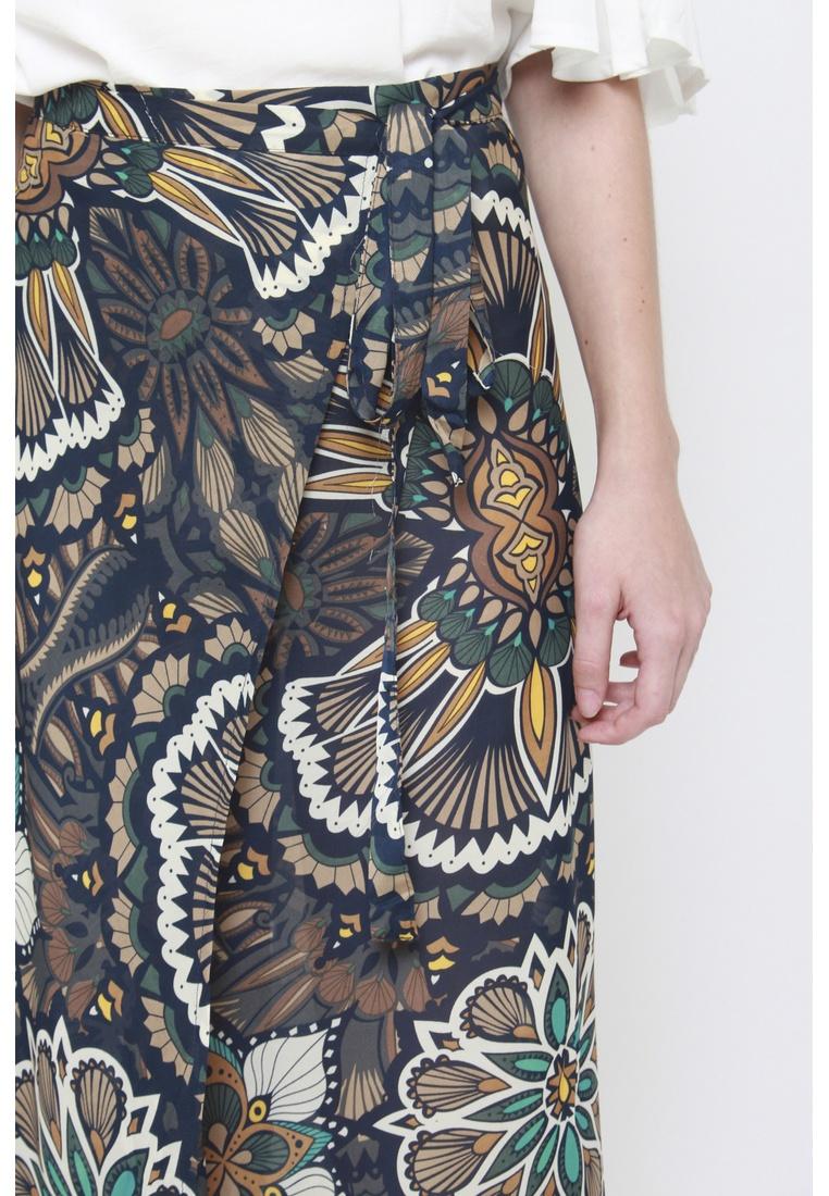 Floral Maxi Tie a Sophialuv It's in Skirt Dark Mixed 7t0SHRwqx