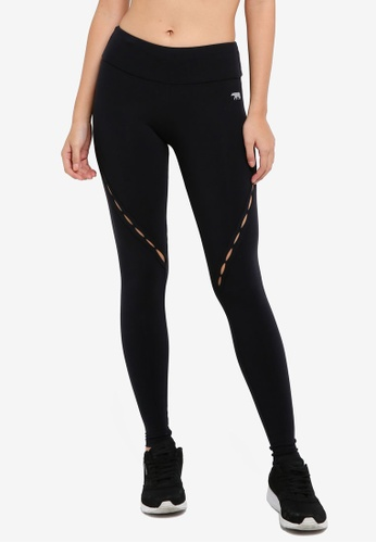 Running Bare black High Rise Naked Ambition Full Length Tights 58A7EAA7FC19ECGS_1