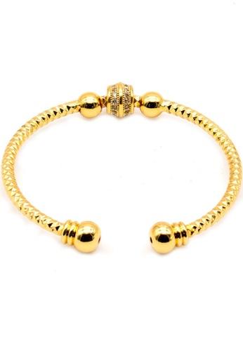 KLF Aristocrat (1) Ladies 2018 Designer Gold Plated Bangle By KLF KL134AC0SI77MY_1