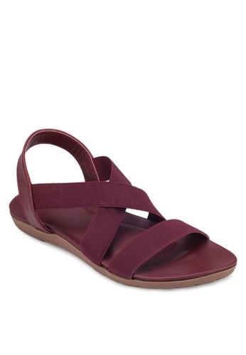 交叉esprit hong kong 分店帶平底涼鞋, 女鞋, 涼鞋