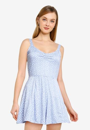 Hollister blue Knit Romper 82BFFAA8855E25GS_1