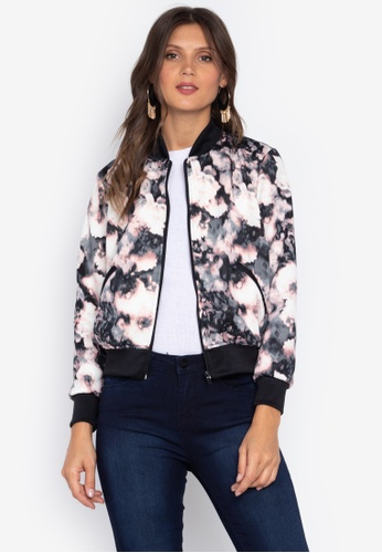 Courier multi Printed Ladies Bomber Jacket F468CAA8D74FE2GS_1