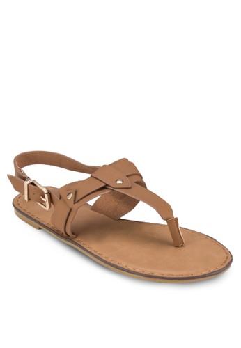 Rambo 夾腳繞踝平zalora taiwan 時尚購物網鞋子底鞋, 女鞋, 涼鞋