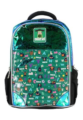 Swan green Swan Smile Victor 2(Monster) Primary School Bag 8D3E1KCE60241EGS_1